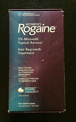 Women's Rogaine Hair Growth Treatment 4 month supply unscented foam. NEW
