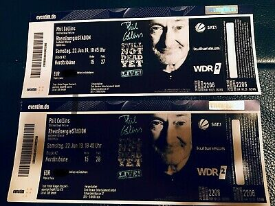 2 Top Tickets Phil Collins in Köln N2 Nordtribüne Reihe 15