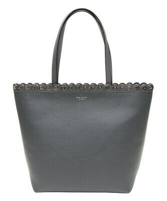 610e6dc6547 NEW Kate Spade Paloma Road Rosemary Large Leather Bag in Smoky Pearl Grey  $459