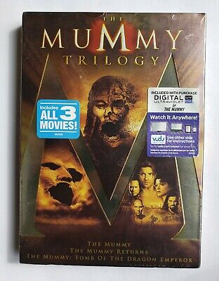 The Mummy Trilogy 1,2,3(DVD, 2012, 3-Disc Set)Returns,Tomb of the Dragon Emperor