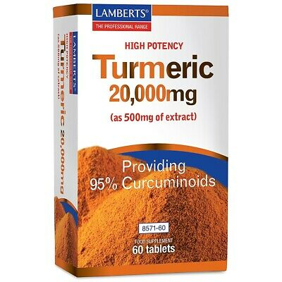 Turmeric 20,000mg  A high strength, pure extract of this popular spice LAMBERTS