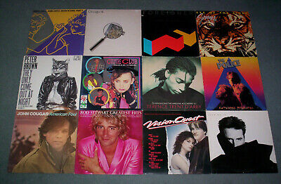 Lot Of 12 New Wave Rock Records!! Police John Cougar Waite Culture Club Journey