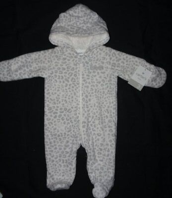 141068e62 NEW CARTERS FLEECE Snowsuit Bunting Winter Baby Girl 3 months NWTS ...