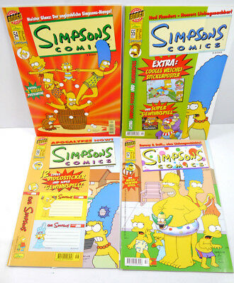 Simpsons Comics Booklet 54 - 57/2001 with Accompanying Bongo Group Dino ( Wrz )