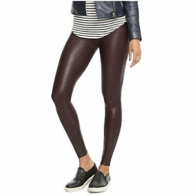c50efa7ed22 (NWT) SPANX Women s Ready to Wow! Wine Faux Leather Leggings Sizes S