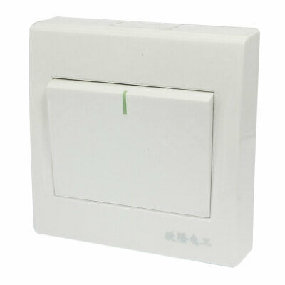 AC 250V 10A Single Gang White Plastic Housing Control SPST Wall Panel Switch