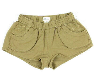 O'Neill Womens Sesame Stretch Shorts Antique Bronze S New