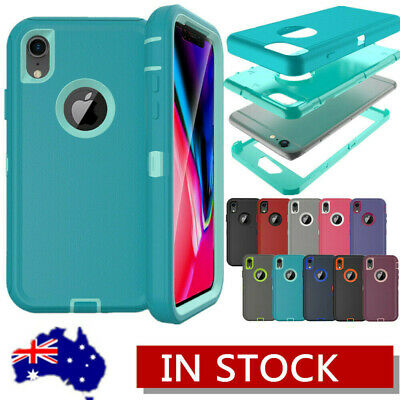 For iPhone XS Max XR 8 7 6 Plus Hybrid Defender Shockproof Protective Case Cover