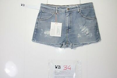 Levis Short 595 Customized (cod. WB34) jeans Tg.45 W31 DONNA remake strappi