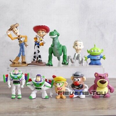 Toy Story Woody Buzz Lightyear Jessie Rex Mr Potato Head Alien Lotso Mini 10pcs