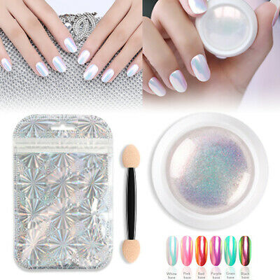 Nail Glitter Mirror Powder Holographic Chrome Pigment Manicure Art DIY Decor