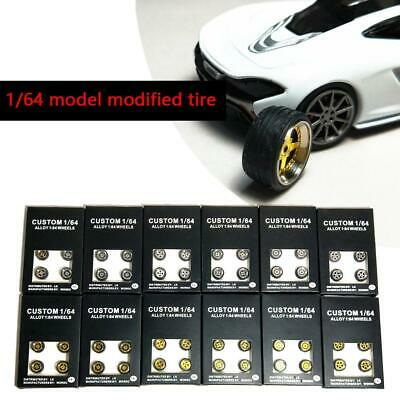 1/64 Scale Alloy Wheels - Custom Hot Wheels, Matchbox, Tomy,  Rubber Tires Z5S7