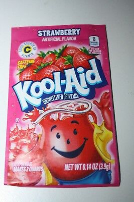 5 x US Kool-Aid Unsweetened Soft Drink Mix STRAWBERRY Flavor