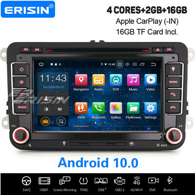 Android 9.0 Autoradio GPS For VW Golf 5 Passat Tiguan Caddy EOS Jetta Skoda Seat