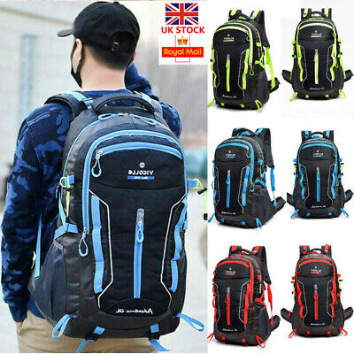 75L Extra Large Nylon Backpack Travel Hiking Camping Sport Rucksack Luggage Bag