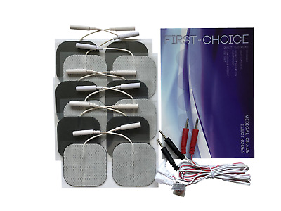 HIGH QUALITY TENS Machine Electrodes Large Pad for Back Pain + 8 Square Pads 5cm