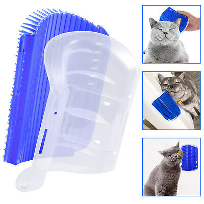 Pet Cat Kitten Self Groomer Brush Wall Corner Grooming Massage Comb With Catnip