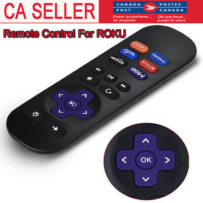 Replacement Remote Control for ROKU 1 2 3 4 LT HD XD XS with 4 Shortcut Button