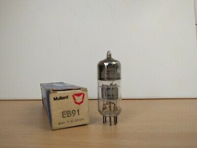 EB91 / 6AL5 Double Diode Valve / Tube by Mullard (New in Box & Tested)