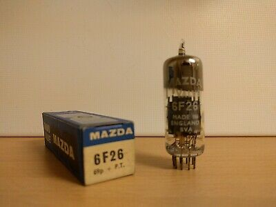 6F26 / EF85 / 6BY7 Pentode Valves / Tubes by Mazda (New in Box)