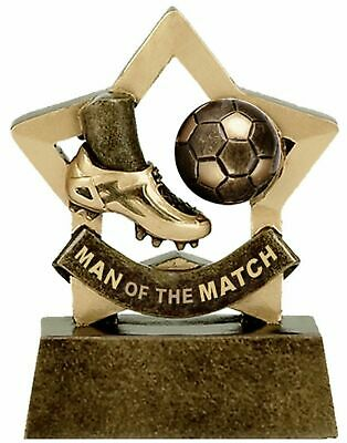 Personalised Mini Star Football Man of the Match Trophy (gw) ENGRAVED FREE