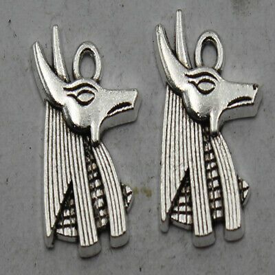 60//200pcs Retro style lovely wolf alloy charms pendants 20x15mm