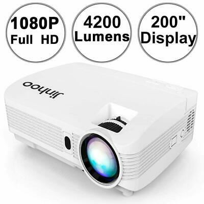 Jinhoo 4200 Lumens Projector FULL HD Support 200 Display Compatible with HDMI
