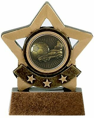 Personalised Mini Star Football Victory Award Trophy (gw) ENGRAVED FREE