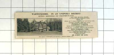 1936 15 Bedroom House In Warwickshire Charming Gardens 420 Acres For Sale
