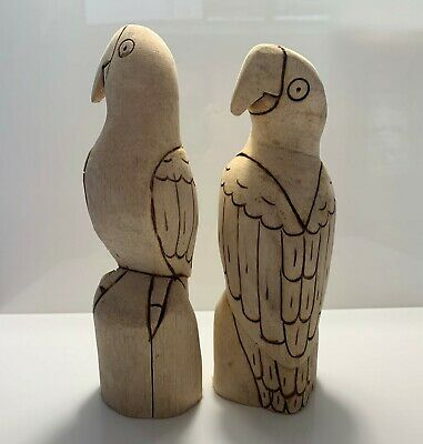 2 x Paint your own Parrot - Wooden Balsa - Handmade - Ethically sourced
