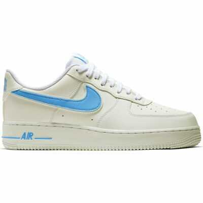 check out 444d2 9493e Men s Nike Air Force 1 07 3 Casual Shoes White University Blue AO2423 100