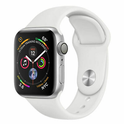 Apple Watch (Series 4) 44mm - Silver Aluminum Case with White Sport Band (GPS)