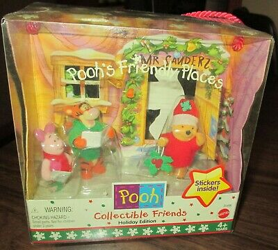 1999 Mattel Winnie The Pooh Collectible Friends Holiday Christmas Edition Mib