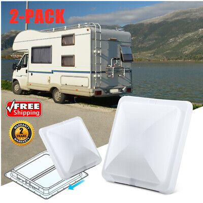 2pcs 14''X14'' RV Roof Vent Cover Vent Lid Replacement Camper Trailer Motorhome