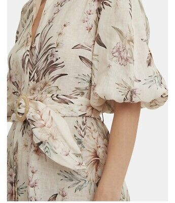 Zimmermann WINSOME DRAPE COCKTAIL sueded silk DRESS Pearl  NEW $580  AUTH