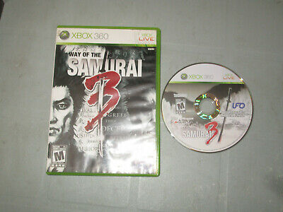 Way of the Samurai 3 (Microsoft Xbox 360, 2009) With Box