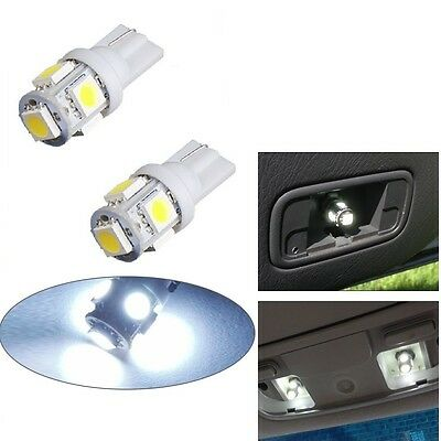 2 x T10 5050 W5W 501 5 SMD LED Bulbs Car Interior Lights Side Lamp Wedge Capless