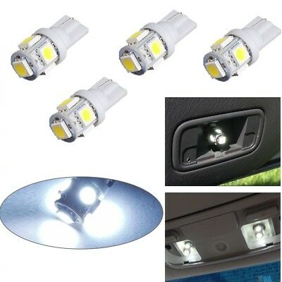 4 x T10 5050 W5W 501 5 SMD LED Bulbs Car Interior Lights Side Lamp Wedge Capless