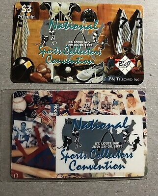 (2) 1995 Sports Collector's Convention Phone Cards