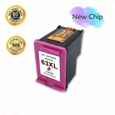 New Chip 63 xl Color Ink Cartridge for HP OfficeJet 3830 3831 5258 5255