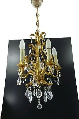 Hollywood Regency Vintage Crystal Chandelier From Palwa Germany 1960s