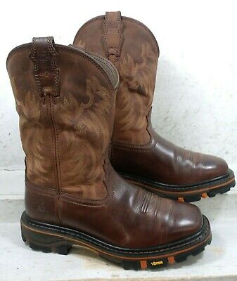 ee2ca5a1d9b CODY JAMES MENS Decimator Brown Leather Cowboy Boots DBP-0-A Shoes size  10.5 EE