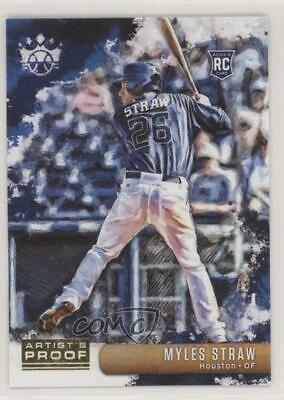 2019 Panini Diamond Kings Artist Proof 140 Short Print Myles Straw Baseball Card