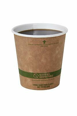 World Centric 100%Biodegradable,Paper PLA-Lined 10 Ounce Coffee Hot Cup,100 Pack