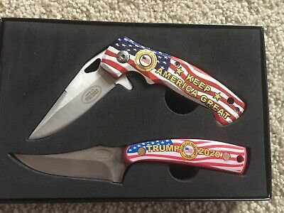 Donald Trump Collector Knife Set Kentucky Cutlery 2020 Keep America Great Box