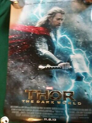 Thor Dark World original DS movie poster - 27x40 D/S Double Sided Marvel