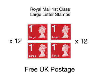 12 x Royal Mail 1st Large Letter Stamps