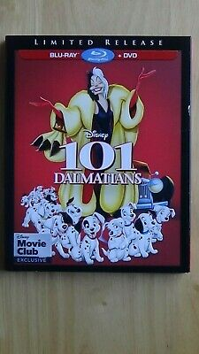 Disney 101 Dalmatians Blu-Ray + DVD Limited Release MC Exclusive NEW with Sleeve