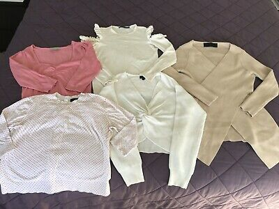 Ladies Bulk Casual Bundle Size 6 Tops, Knits & Denim. Assorted Fashion Brands