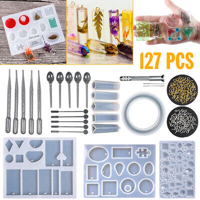 AU 127x Resin Casting Molds Kits Silicone Mold Making Jewelry Pendant Craft DIY